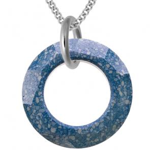 Pandantiv Marbled Blue - Cristal Swarovski