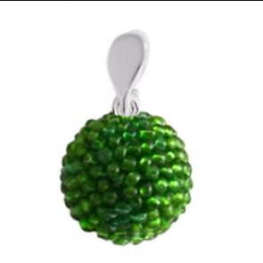 Pandantiv Green -  Sticla Boemia