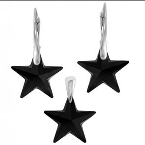 Set Black Stars - Cristale Swarovski