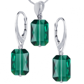 Set Emerald Cut - Cristale Swarovski
