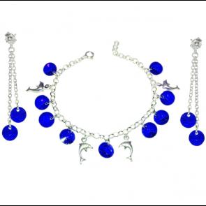 Set Dolphins - Cristale Swarovski Majestic Blue