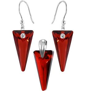 Set Red Magma - Cristale Swarovski