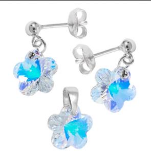 Set Floricele Aurora Boreala - Cristale Swarovski