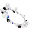 Bratara Black & White - Perle & Cristale Swarovski