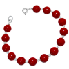 Bratara Red Coral - Perle Swarovski