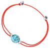 Bratara Make a Wish - Cristal Swarovski Xirius Aquamarine