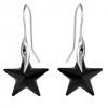 Cercei Black Stars - Cristale Swarovski