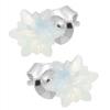 Cercei White Opal Edelweiss - Cristale Swarovski