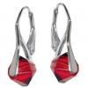 Cercei Xilion Light Siam - Cristale Swarovski