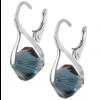 Cercei Xilion Montana Blue - Cristale Swarovski