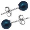 Cercei Petrol Blue - Perle Swarovski 4 mm