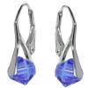 Cercei Xilion Safir - Cristale Swarovski