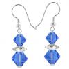 Cercei Loren - Cristale Swarovski Xilion Blue Sapphire