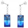 Cercei Blue Bermuda - Cristale Swarovski