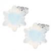 Cercei Edelweiss - Cristale Swarovski White Opal