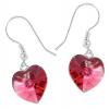 Cercei Inimioare Indian Pink - Cristale Swarovski