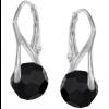 Cercei Csila - Cristale Swarovski Negru Jet