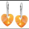 Cercei Tangerine - Inimioare Cristale Swarovski