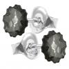 Cercei Silver Night Jellyfish - Cristale Swarovski Designer Edition Céline Cousteau