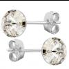 Cercei Joli - Cristale Swarovski Silver Shade 7 mm