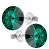 Cercei Rivoli Emerald - Cristale Swarovski