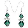 Cercei Loren - Cristale Swarovski Xilion Emerald