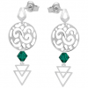 Cercei Vega - Cristale Swarovski Verde Smarald