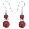 Cercei Erina - Red Coral - Perle & Cristale Swarovski