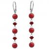 Cercei Red - Cristale Swarovski