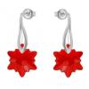Cercei Red Edelweiss - Cristale Swarovski