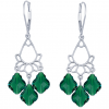 Cercei Baroque Emerald - Cristale Swarovski