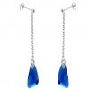 Cercei Aripi Capri Blue - Cristale Swarovski