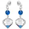 Cercei Diamante Bermuda Blue - Cristale Swarovski Designer Edition: Chris Bangle
