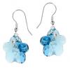 Cercei Flori Aquamarine - Cristale Swarovski