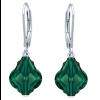 Cercei Emerald Baroque - Cristale Swarovski