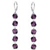 Cercei Purple - Cristale Swarovski