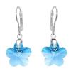 Cercei Blue Flowers - Cristale Swarovski