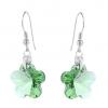 Cercei Cristale Swarovski - Green Flowers