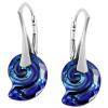 Cercei Sea Snail Bermuda Blue - Cristale Swarovski Designer Edition Céline Cousteau