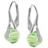Cercei Xilion Peridot - Cristale Swarovski