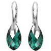 Cercei Tara - Cristale Swarovski Verde Smarald
