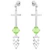 Cercei Cruciulite - Cristale Swarovski Peridot