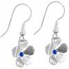 Cercei Floricele - Cristale Swarovski Capri Blue