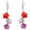 Cercei Floricele - Cristale Swarovski