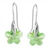 Cercei Peridot Flowers - Cristale Swarovski