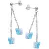 Cercei Fluturasi Aquamarine - Cristale Swarovski
