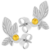 Cercei Frunze - Cristale Swarovski