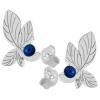 Cercei Frunze - Cristale Swarovski Capri Blue