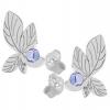 Cercei Frunze - Cristale Swarovski Lavanda