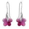 Cercei Fucsia Flowers - Cristale Swarovski